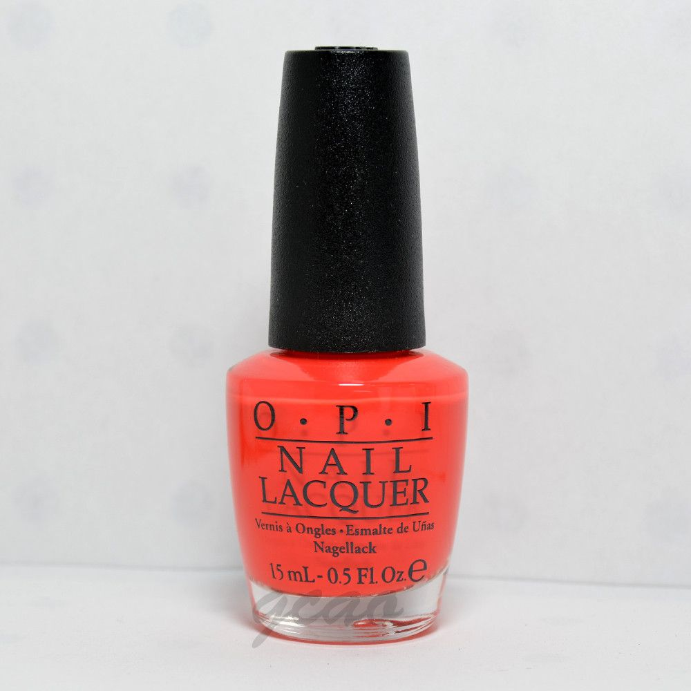 OPI Nail Polish Lacquer living on the bula vard NLF81. Contain no ...