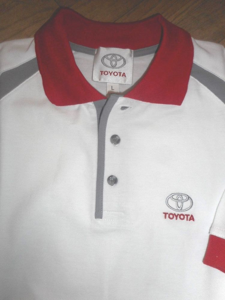 b8ee162b NEW TOYOTA MENS SHORT SLEEVE GOLF POLO SHIRT SIZE L - FREE SHIPPING I-16 # fashion #clothing #shoes #accessories #mensclothing #shirts (ebay link)