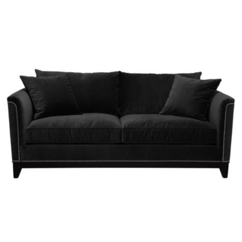 Pauline Sofa from Z Gallerie black and its microfiber
