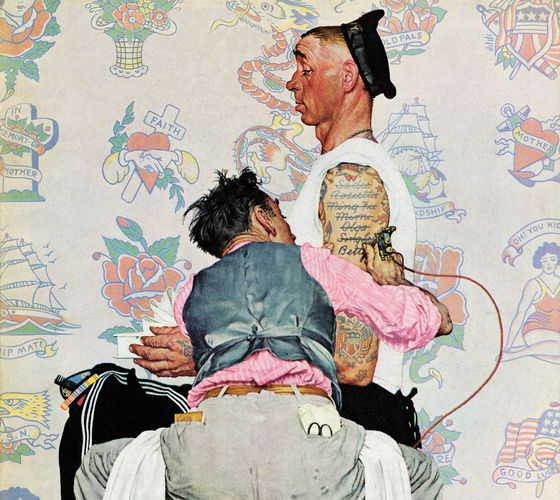 Norman rockwell on pinterest 76 pins for Norman rockwell tattoo
