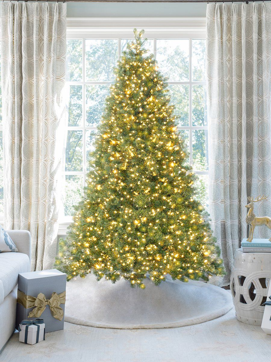 6 5 Royal Fir Quick Shape Artificial Christmas Tree With 850 Warm White Multi Color Led Lights Flocked Artificial Christmas Trees Artificial Christmas Tree White Led Lights Christmas tree with dual lights white and multicolored