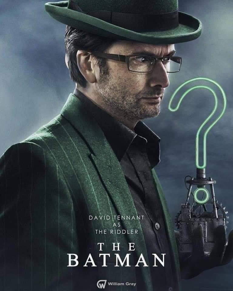 Batman Villain Fan Casting Art Riddler, David tennant