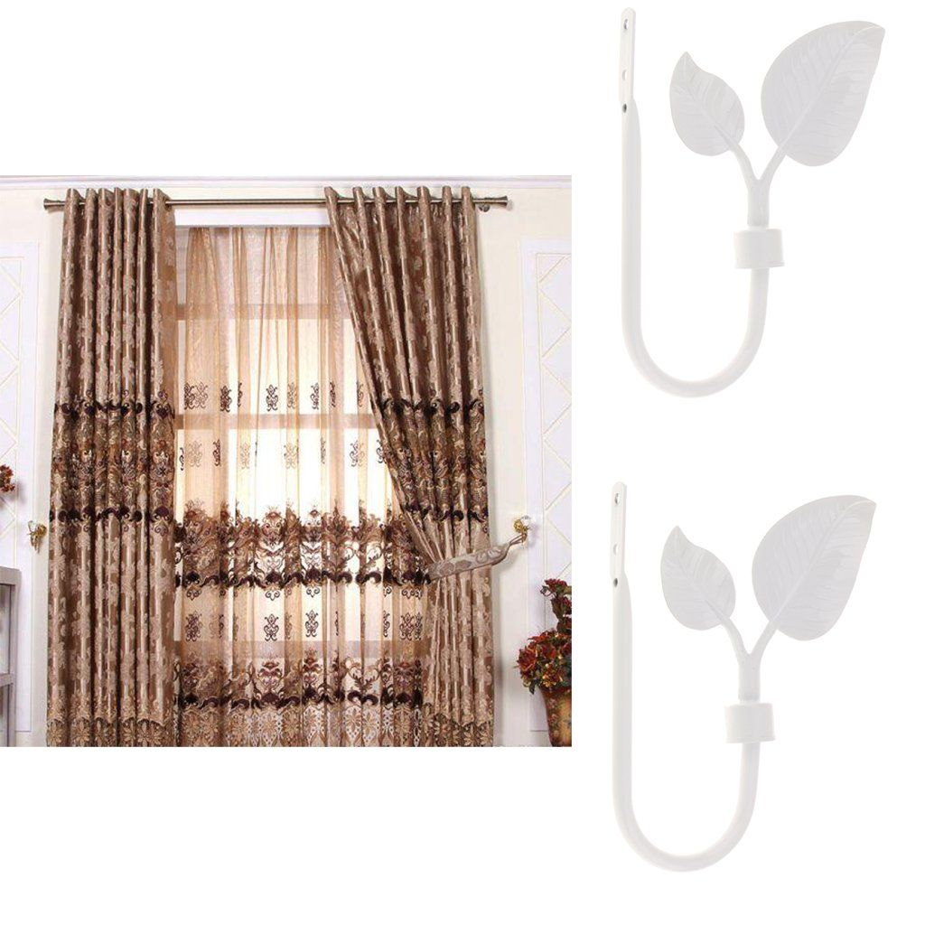 Jili Online 2piece Unique Metal Leaf Curtain Hook Window Drapery