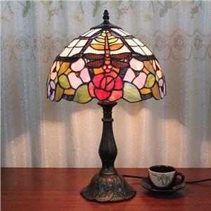 Tiffany Lampe De Table Avec 1 Lampe Aux Motifs De Fleur Et De Libellule Lampes De Table Lamp Lampes Tiffany