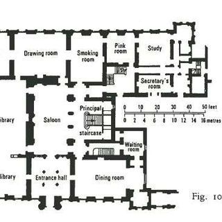 From The Victorian Country House By Mark Girouard Jpg Highclere Castle Floor Plan Downton Abbey House Castle Floor Plan