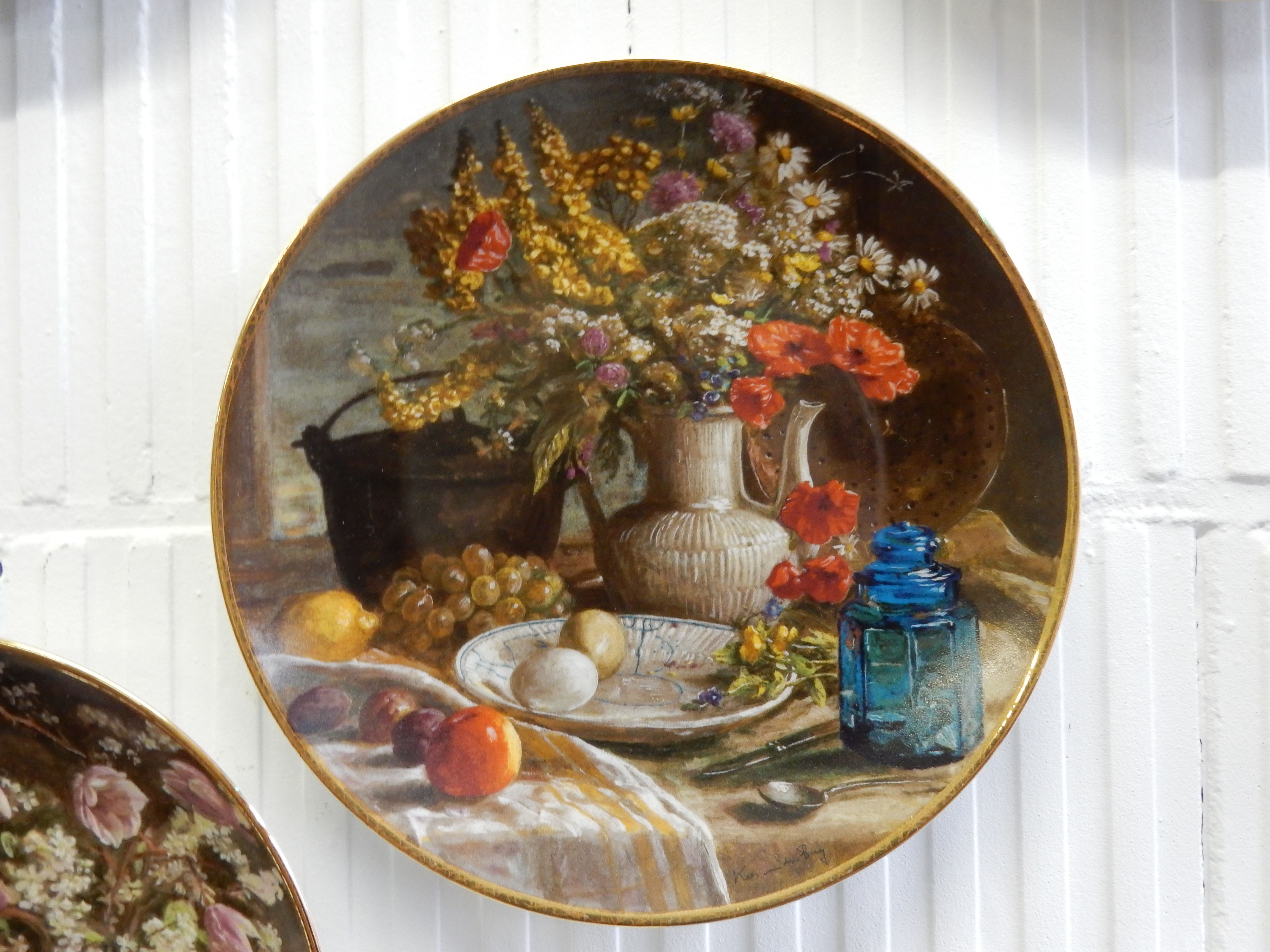 Verschillende bradex wandborden te koop bij d 39 rommels goed met bloemige stillevens prijs per - Advertentie stuk ...