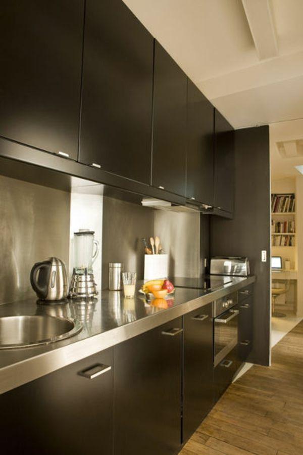 La cuisine bois et noir - cu0027est le chic sobre raffiné! - Archzinefr - cuisine ilot central conforama