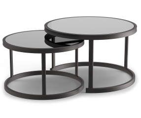 Best Wilson Fisher Lakewood Double Round Nested Coffee Tables 640 x 480
