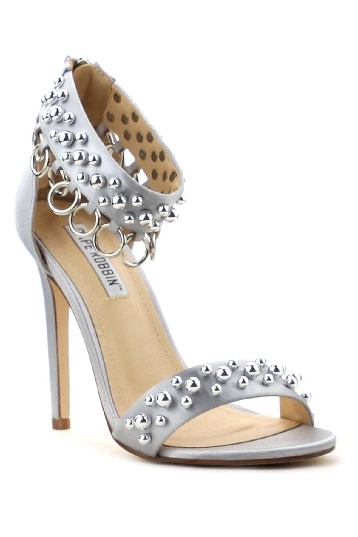 361d28b14b33c Cape Robbin Suzzy Ankle Strap Beaded Heel