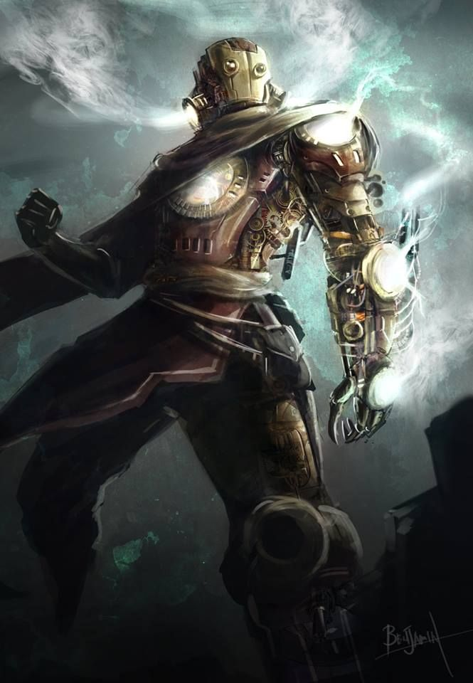 Steampunk Iron Man by PathOfDawn