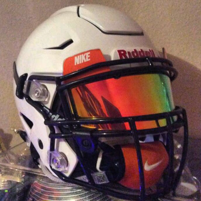 8ea65863 SHOC Iridium insert in a Nike Football Visor in Riddell Football's Latest  helmet in the Speed line The Revo Speedflex