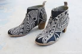 Image result for painted boots