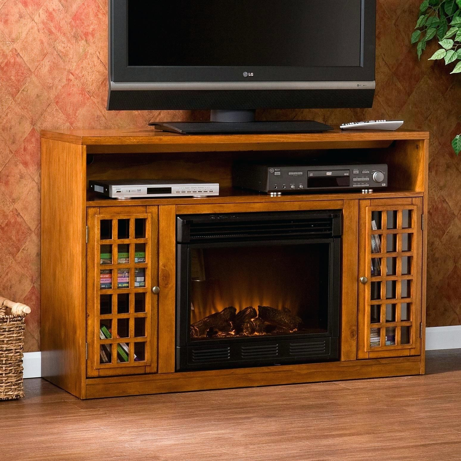 Media Console With Electric Fireplace Fireplace Fireplaceideas