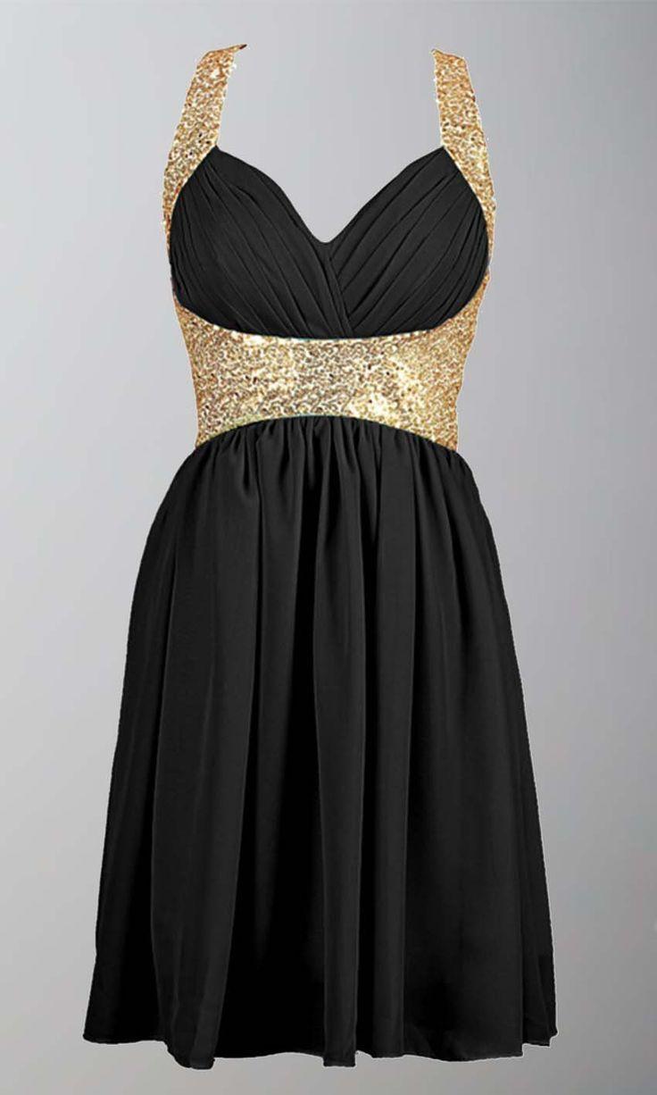 Cool dresses black and gold sequin short prom dresses uk ksp