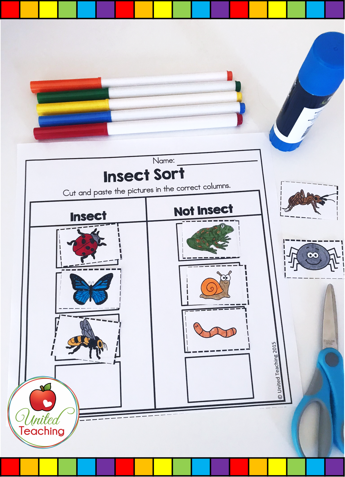 Insects No Prep Activities Distance Learning