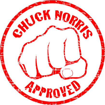 Seal Of Approval Courtesy Of Chuck Norris Chuck Norris Chuck Norris Jokes Chuck Norris Memes