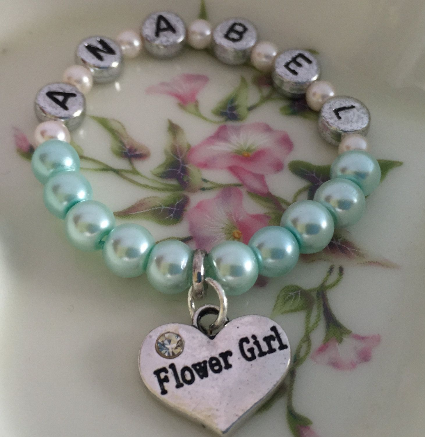 Customize bracelet choose lettering and charm to personalize