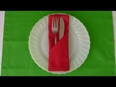 ᴴᴰ Paper Napkin Folding ~ Basic Pouch in 1 minute ~ 6 Simple, Easy & Quick S...,  #Basic #eas... #papernapkins