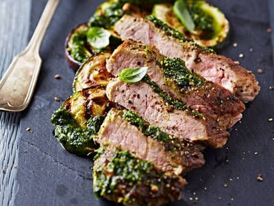It's hard to believe how easy it is to put together a grilled steak filled with a quick pesto sauce. You have to try this at your next barbecue party!