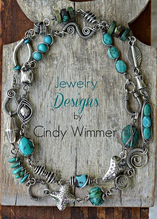 Adding all sorts of things – like turquoise! – to wire: