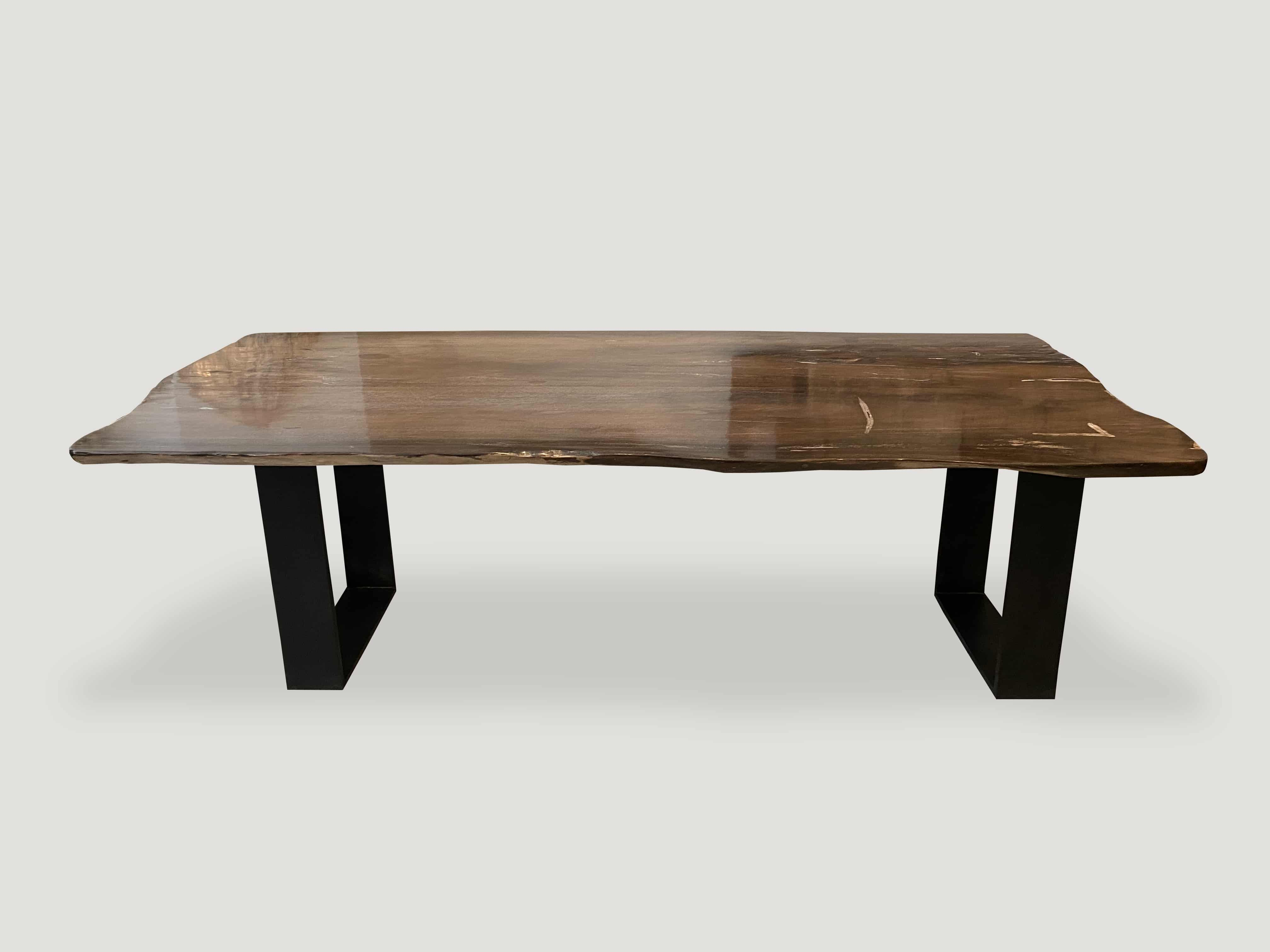Super Smooth Petrified Wood Dining Table 88ch Andrianna Shamaris Coffee Table Wood Wood Dining Table Dining Table [ 3024 x 4032 Pixel ]