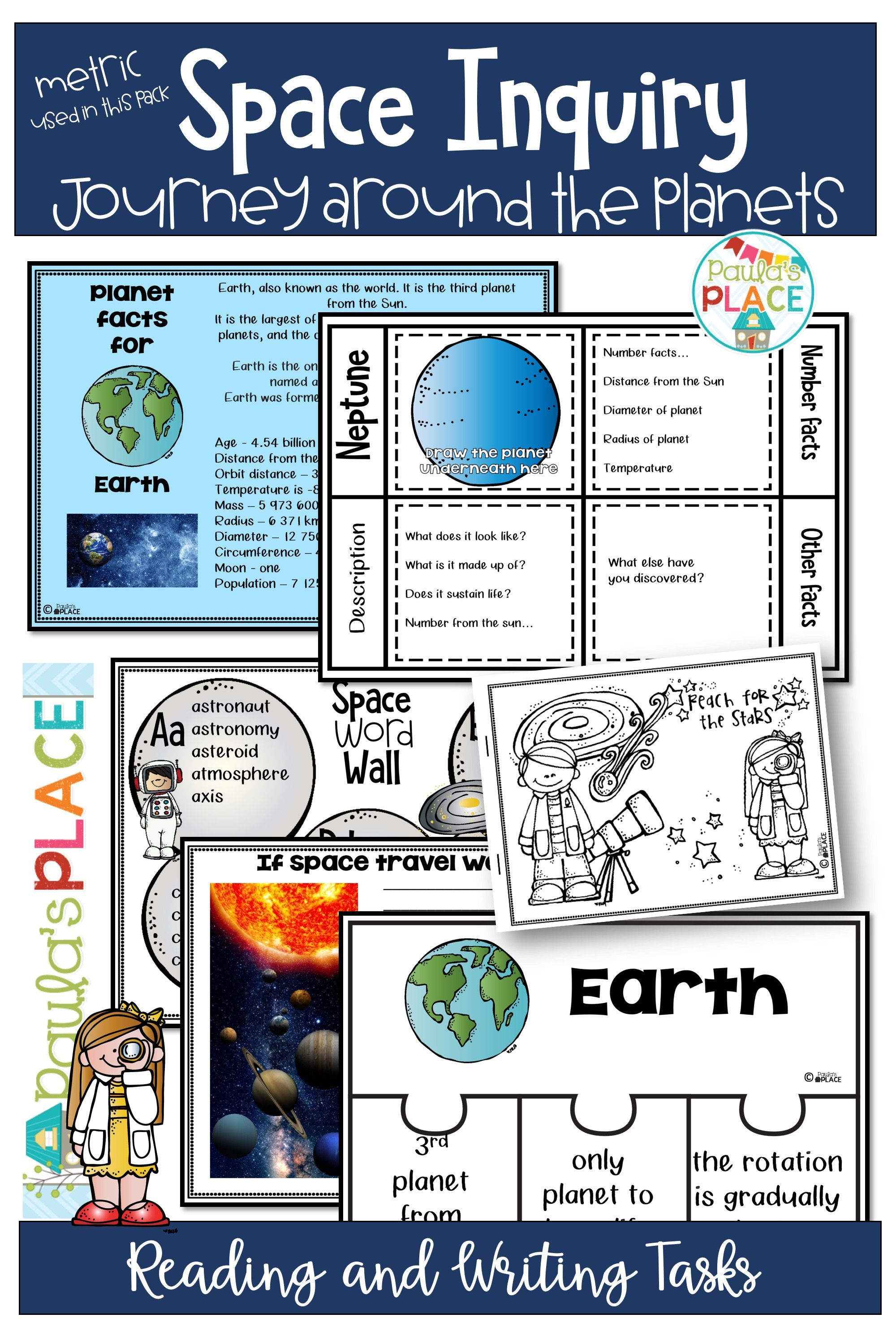 Space And Planet Activities And Worksheets Planets Activities Planets Writing Tasks