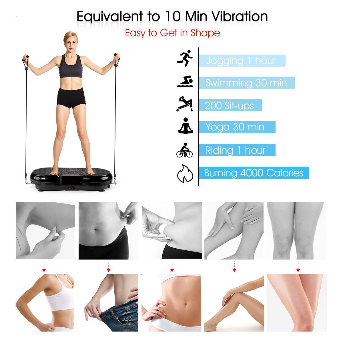 d6bb975c26c45 Genki Whole Body Vibration Plate Slim Exercise Fitness Machine Shaper  Massager  81.49 End Date  2019