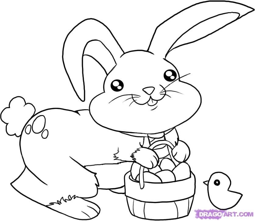 The Ass of Easter  Coloring Bunny drawing and How to draw