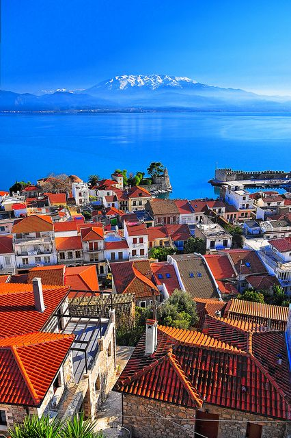 The endlessly beautiful hues of Navpaktos, Dytiki, Ellada, Greece. #travel #sea #ocean #landscape #cityscape #Greece