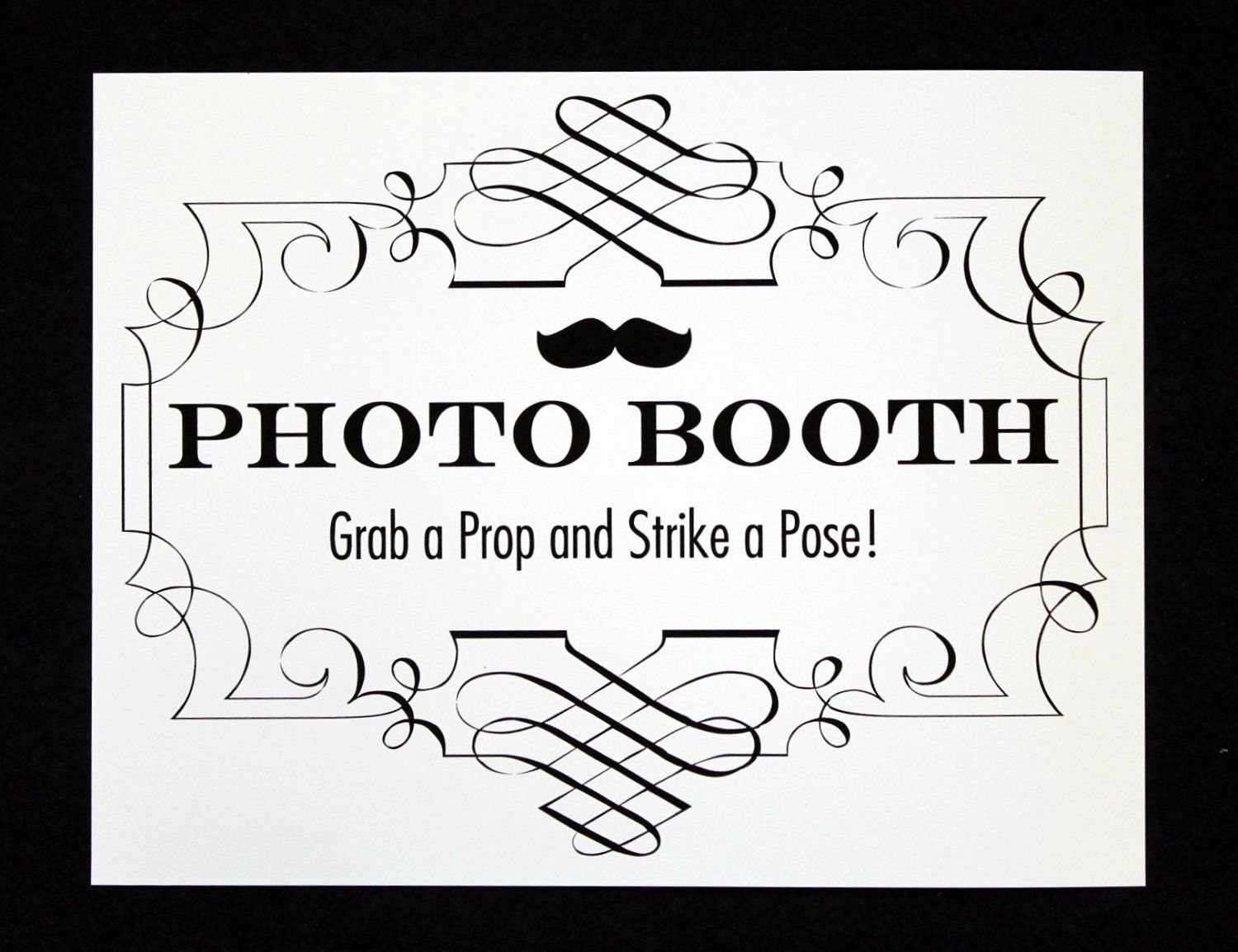 Photo Booth Sign Easy To Print I Laminated Mine