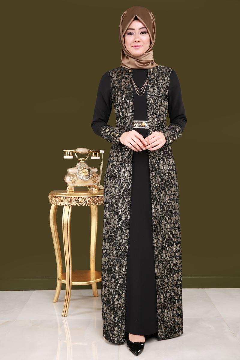 Yeni Urun Sim Detay Tesettur Abiye Siyah Gold Urun Kodu Ygs6022 149 90 Tl Batik Elbise Elbiseler Elbise Modelleri