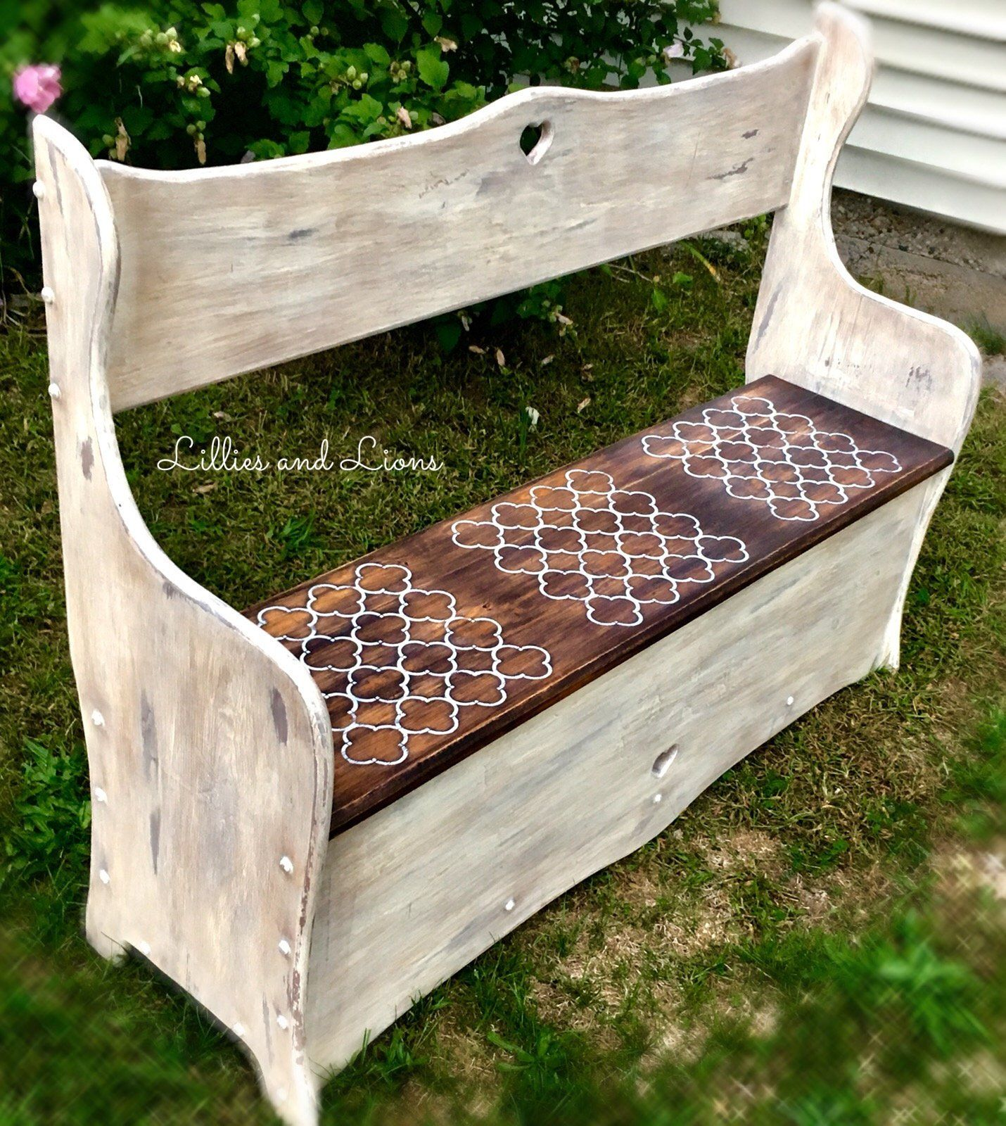Prime Sold White Farmhouse Entryway Bench French Country Bench Evergreenethics Interior Chair Design Evergreenethicsorg