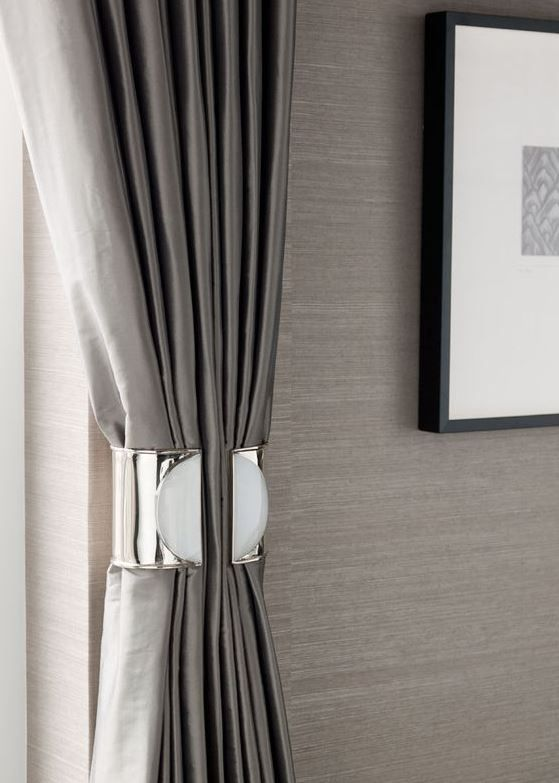 Modern Metal Tie Back Modern Curtains Home Curtain Designs