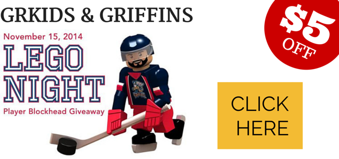 grkids & Griffins Team Up To Bring You Lego Night Discounts!