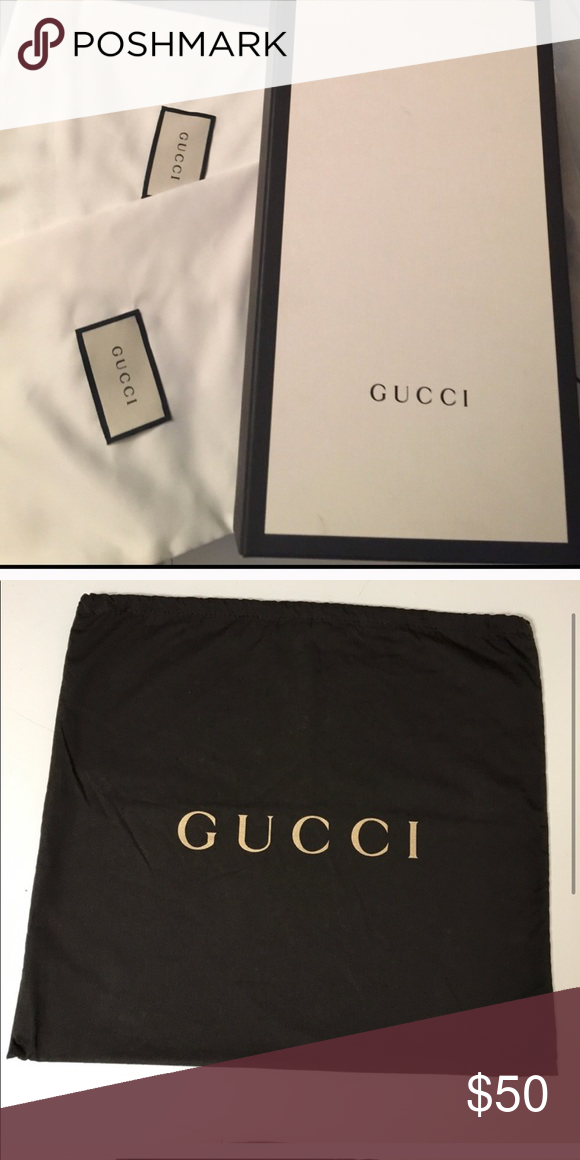 773f302fdbc0 Gucci Shoe Box and Two Dust Bags-+ Gucci Dustbag Gucci Shoe Box and and 2  Dustbags + Gucci Brown Dust Bag for Accessories. Gucci Bags