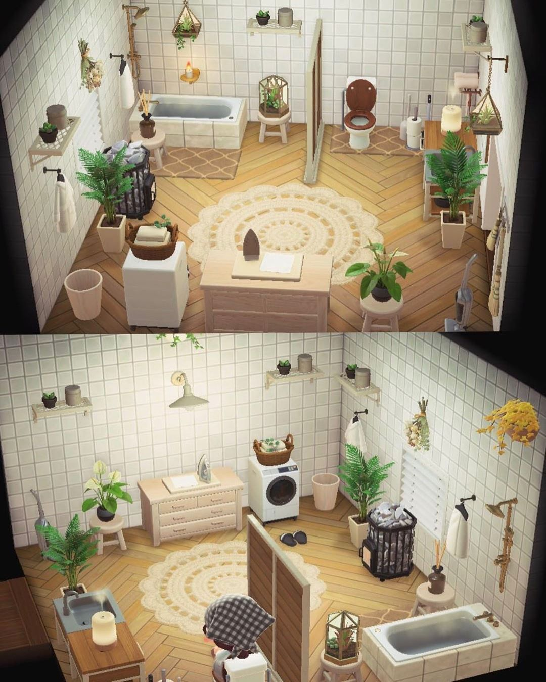 Animal Crossing New Horizons On Instagram This Bathroom Is Beautiful Credit To Kanrawastake In 2020 Animal Crossing 3ds Animal Crossing Animal Crossing Wild World