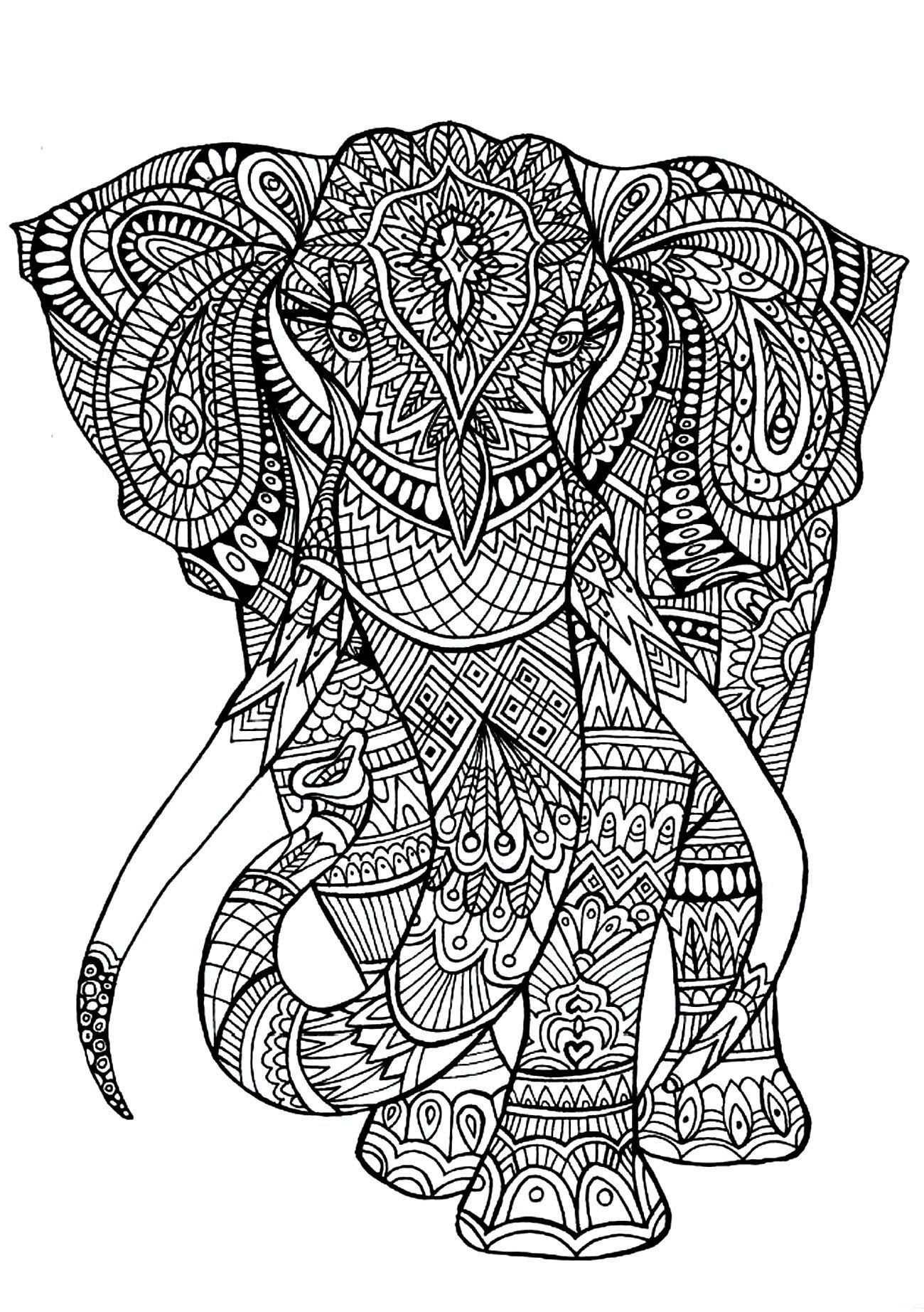 Animal Pattern Coloring Pages Coloring Pages Animal Patterns Elephant Coloring Page Detailed Coloring Pages Cool Coloring Pages