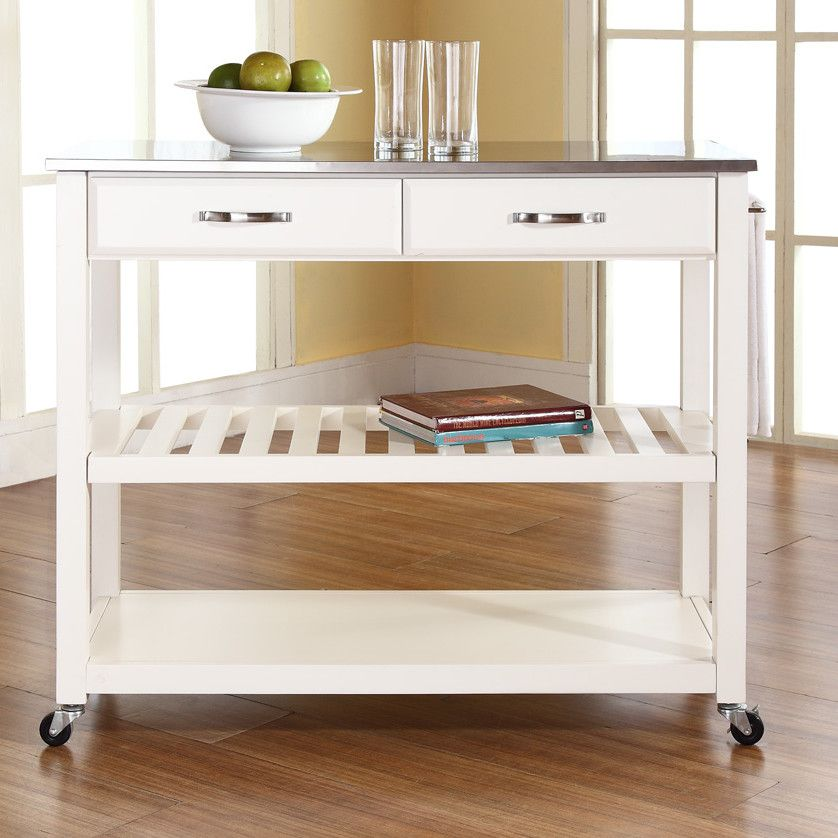 Crosley Kitchen Island With Stainless Steel Top Allmodern