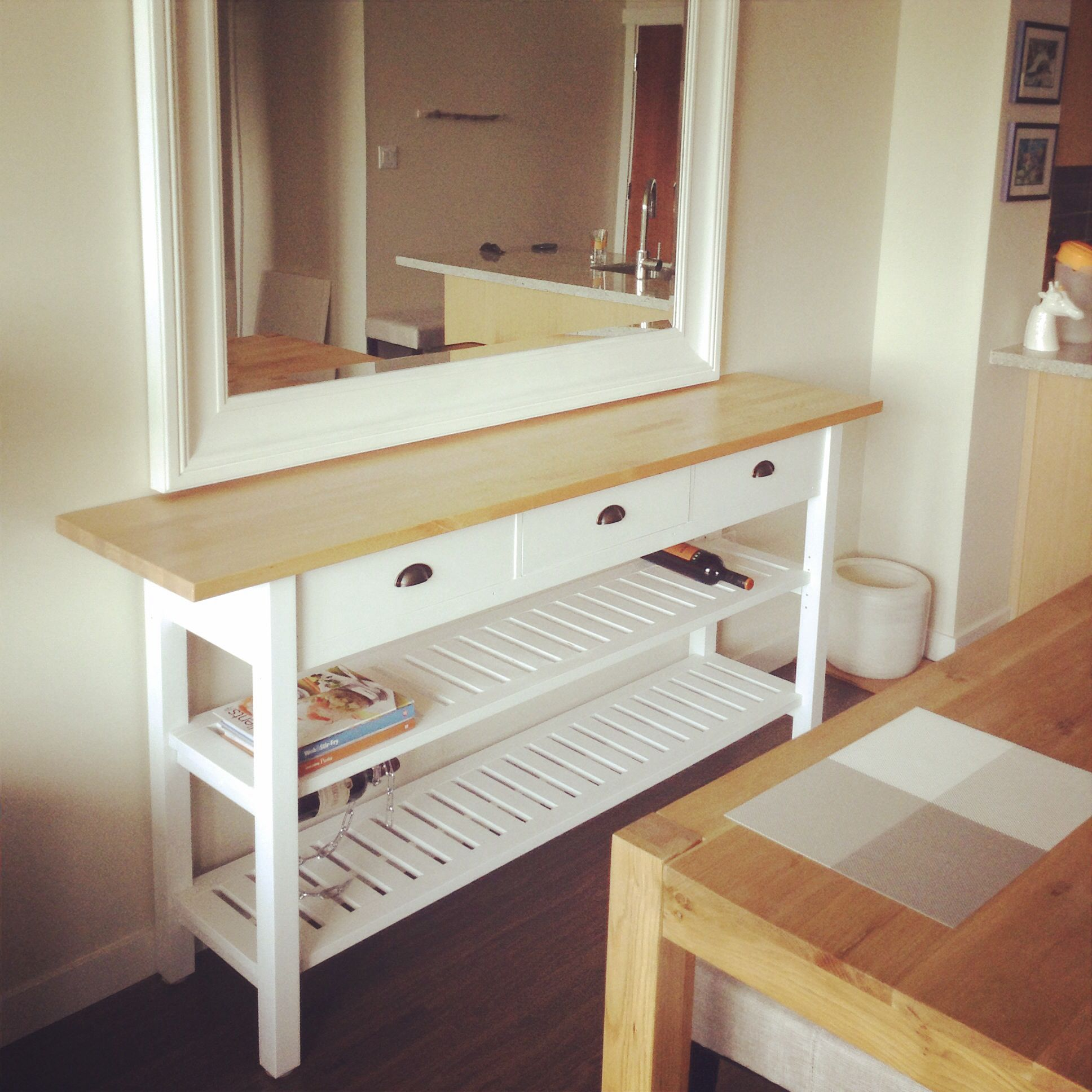 superior Norden Table Hack Part - 8: Beautiful IKEA Norden Sidetable hack if I do say so myself. #DIY #Craft