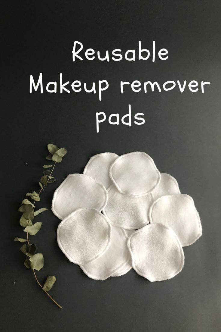 Zero Waste Makeup Remover Pads White Facial Rounds