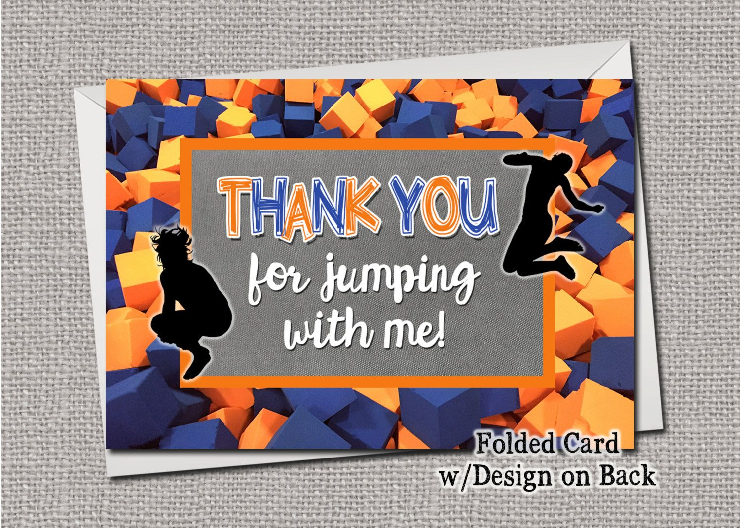 Sky Zone Jump Trampoline Urban Air Thank You Cards by