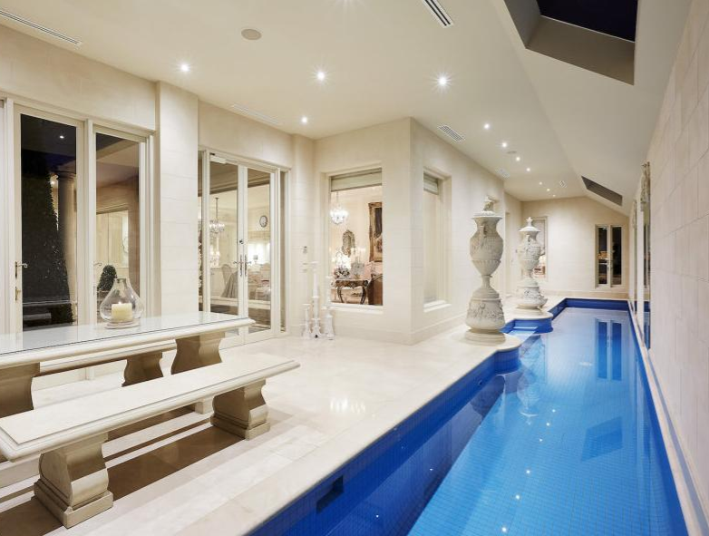 Indoor Lap Pool   Indoor Swimming Pool   Pinterest   French chateau ...