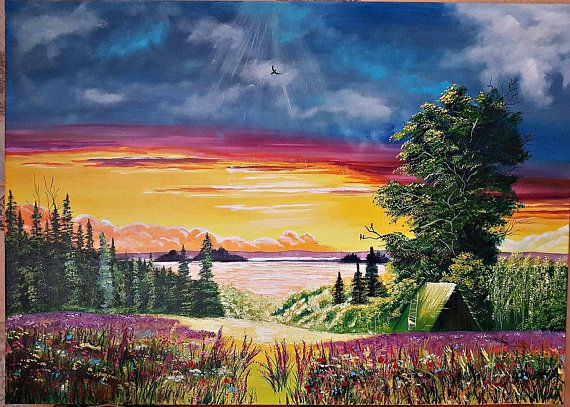Large Oil Painting Wall Art On Canvas Summer Rhapsody mothers Day ...