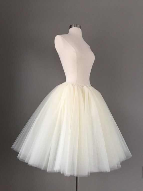 9a6a260e99898 Ivory Tulle Skirt - Adult Bachelorette party Tutu- ivory adult tutu ...