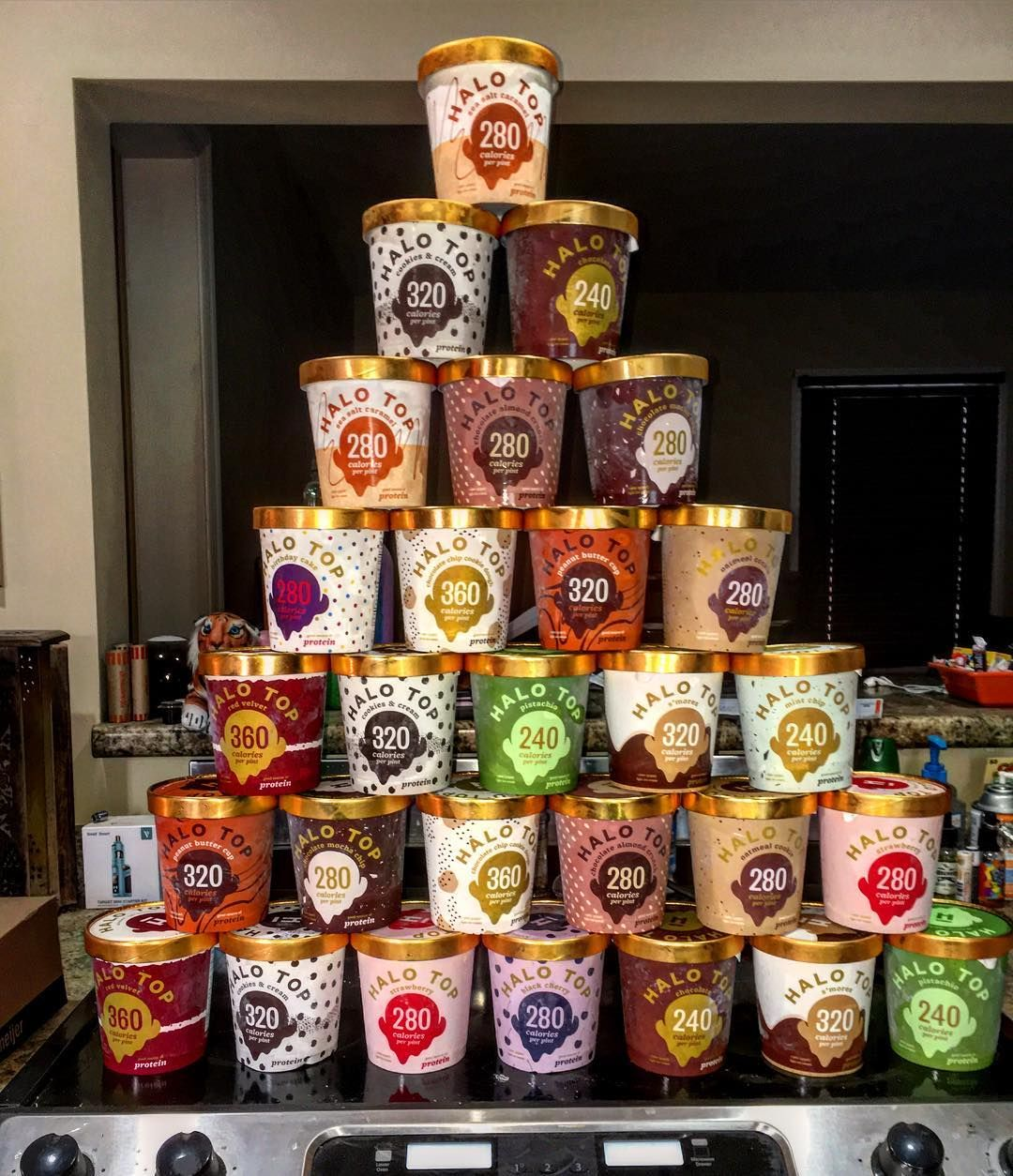 Our Favorite Kind Of Pyramids Are Stacks Halo Top Ice Cream Pints Creedfit