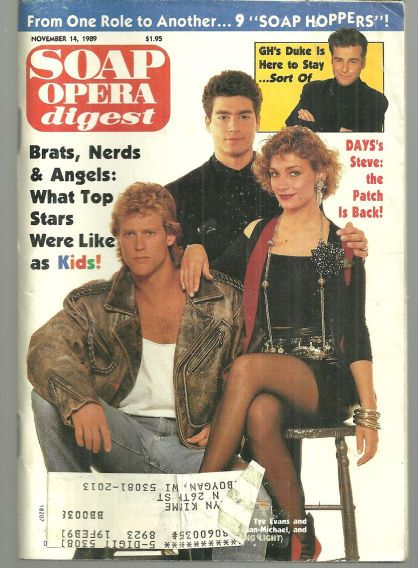 Morgan Englund, Carl Tye Evans and Beth Ehlers Guiding Light on the Cover
