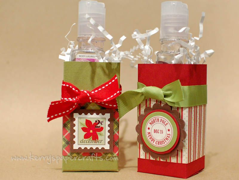Simple Cute Hand Sanitizer Gift Boxes Christmas Gift Card
