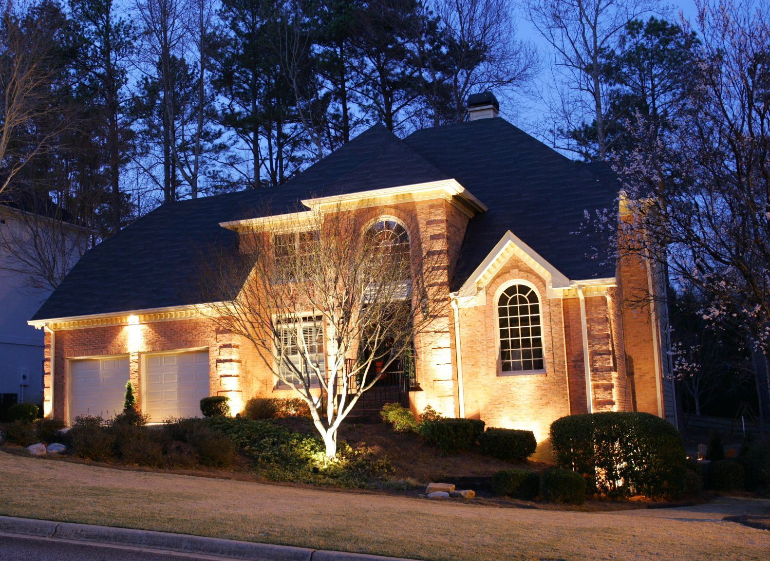 Modern home exterior lighting design HomeBuildersDaytonaMy new