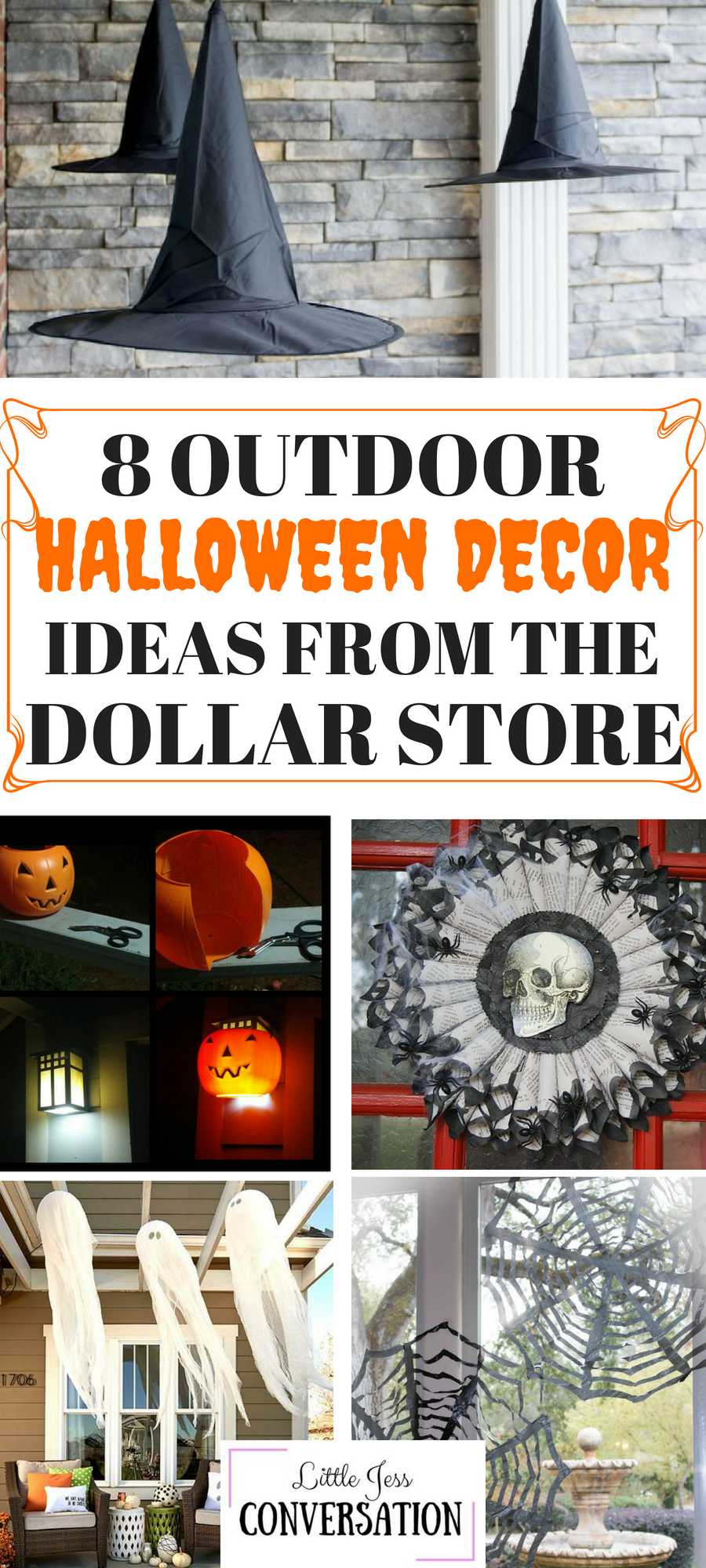 8 Outdoor Halloween Decor Ideas From The Dollar Store Holiday Halloween Outdoor Decorations Dollar Store Halloween Decorations Outdoor Halloween