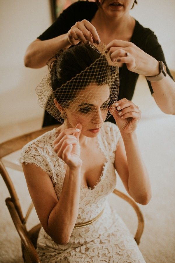VintageInspired Florida Garden Wedding at Maitland Art Center is part of garden Wedding Hairstyles - This vintageinspired Maitland Art Center wedding has amazing vintage details, tons of DIY projects, and beautiful couple portraits!
